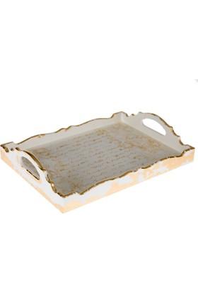 Orta Sofa Beyaz mektup tepsi orta boy