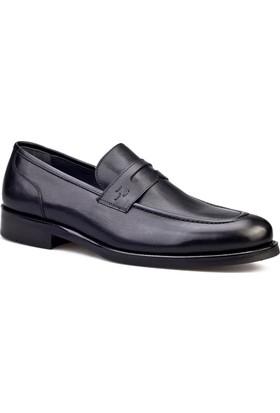 Cabani Kemerli Klasik Erkek Ayakkabı Siyah Antik Deri