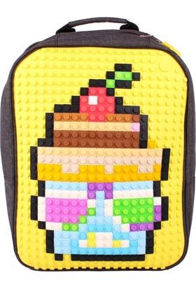 Pixelbags Sırt Çantası - Sarı/Siyah