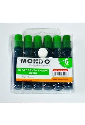Mondo Yeşil Tahta Kalemi Mürekkebi 6'Lı Paket
