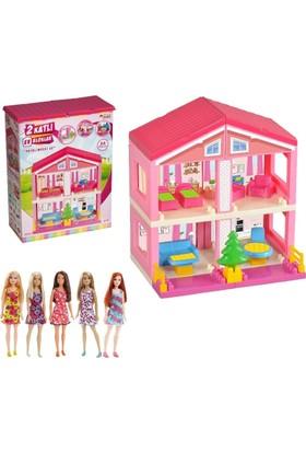 Kkd Oyuncak Ev Barbie Evi Barbie Tarzda Bebekli Ev Seti Oyuncak Bebekli Ev