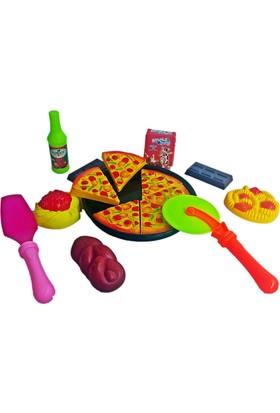 Kkd Oyuncak Bebek Mutfak Seti Kesilebilen Pizza Seti Eğitici Oyuncak Kız Evcilik Oyuncağı Oyuncak Bebek