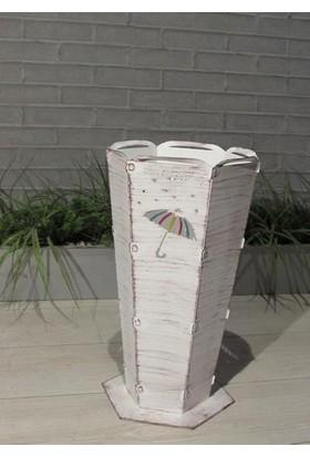 Metal Tasarım Şemsiyelik Yağmur Kahve Eskitme