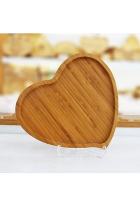 Mien Bambu Kalp Servis Tabağı