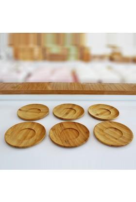 Mien Bambu 6Lı Çay Tabağı