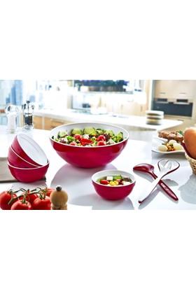 Plastart Salata Seti Çift Renkli 7 Parça