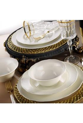 Kütahya Porselen Bone İlay 6 Kişilik 24 Parça Yemek Takımı