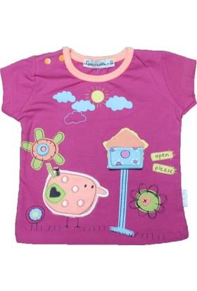Lorinda 13203 Tshirt Koyu Pembe