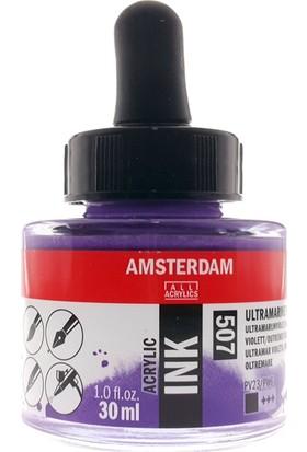 Talens Amsterdam Akrilik Mürekkebi 30Ml - N:507 Ultramarine Violet