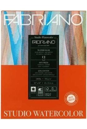Fabriano Watercolor Studio Düz Dokulu Suluboya Blok - 300Gr. - Gs/Hp - 28X35,6Cm