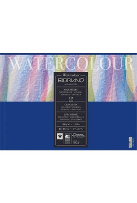 Fabriano Watercolor Studio, İnce Dokulu Suluboya Blok - 300Gr. 36X48Cm