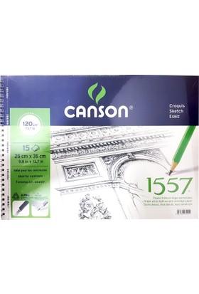 Canson 1557 Eskiz Defteri 120Gr. 15 Yaprak, 25X35Cm