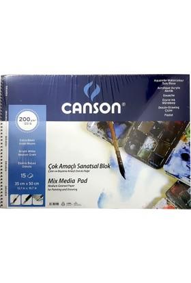 Canson Resim Blok 35X50 Fınface 200 Gr 15Yp 153550