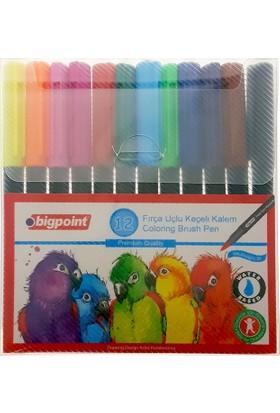 Bigpoint 909 Fırça Uçlu Keçeli Kalem Seti 12 Renk