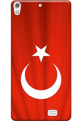 Kılıf Merkezi General Mobile Discovery Air Türk Bayrağı Baskılı Silikon Kılıf