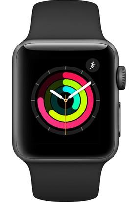 Apple Watch Seri 3 38mm Uzay Grisi Alüminyum Kasa ve Siyah Spor Kordon - MQKV2TU/A