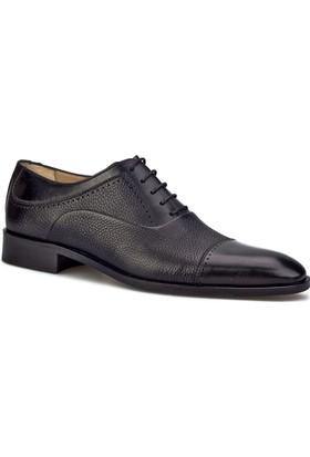 Cabani Bağcıklı Kösele Enjeksiyonlu Klasik Erkek Ayakkabı Siyah Antik Deri