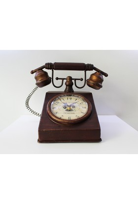 Nostaljik Telefon Masa Saati