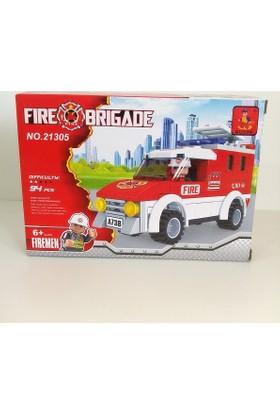 Hdm Lego 94 Parça İtfaiye Kamyonu Arabası Eğitici Oyuncak YREBNR