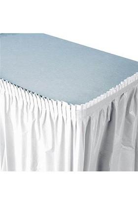 Partioutlet Plastik Beyaz Masa Eteği