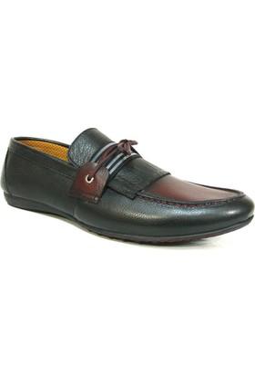 Projack 1100 Siyah Bordo Bağcıksız Casual Erkek Ayakkabı