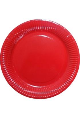 Partioutlet Kırmızı Karton Tabak 18 Cm