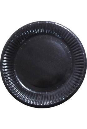 Partioutlet Siyah Karton Tabak - 18 Cm