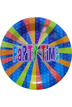 Partioutlet Party Tıme Tabak Mavi - 23 Cm