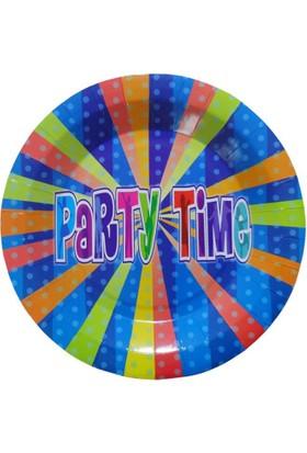 Partioutlet Party Tıme Tabak Mavi - 18 Cm