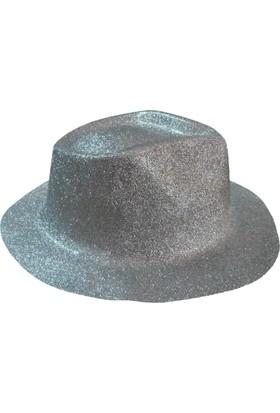 Partioutlet Simli Fötr Şapka Gri