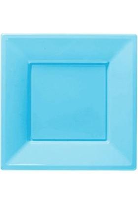 Partioutlet Mavi Plastik Kare Tabak