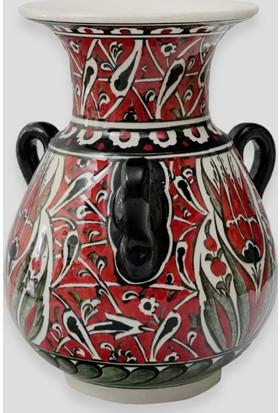 Old City Seramik 20 cm Çini Vazo
