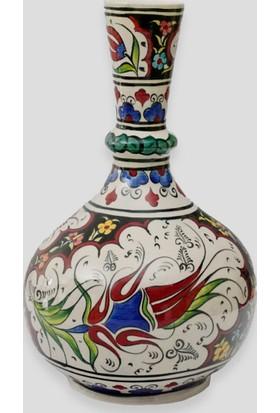 Old City Seramik 25 cm Çini Vazo