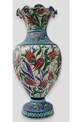 Old City Seramik 43 cm Çini Vazo