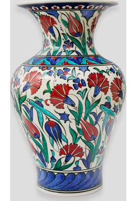 Old City Seramik 30 cm Çini Vazo