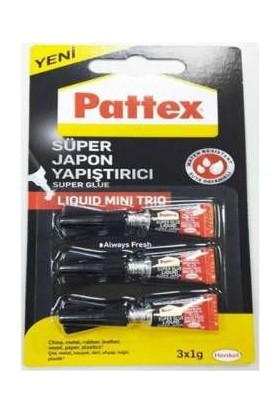 Süper Mini Japon Yapıştırıcı Pattex 3+1Gr