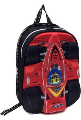 F50 Ana Okulu İçin Yarış Araba Modeli Sırt Çanta 32X25Cm