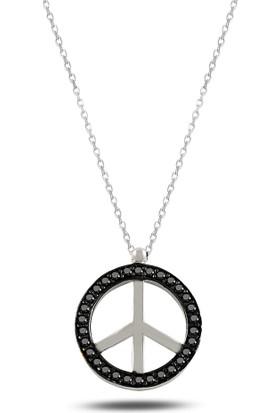 Mercan Silver Gümüş Barış Sembolü Kolye