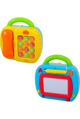 Play Go Hem Sesli Işıklı Telefon Renkli Hem Yazı Tahtası