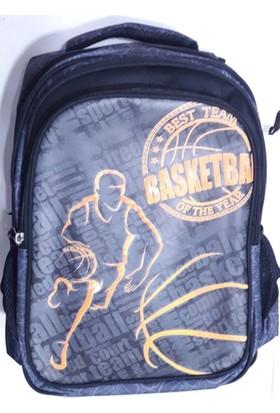 Jaka Basketbol Desenli Üç Gözlü Sırt Çantası