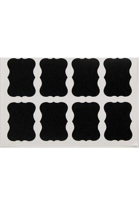 Temiz Pazar Mutfak Kavanoz Çıkartma Stickeri 48 Adet