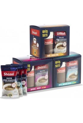 Shazel Hazır Şekerli Türk Kahvesi 11Gr X 10 Adet Bardaklı Ofis Seti