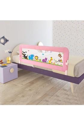 Evokids Animals Katlanabilir Çocuk Yatak Bariyeri 140X52 Cm - Pembe
