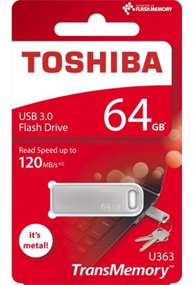 Toshiba 64Gb Usb 3.0 120 Mb/Sn Yüksek Okuma Hızı Mini Metal Usb Bellek