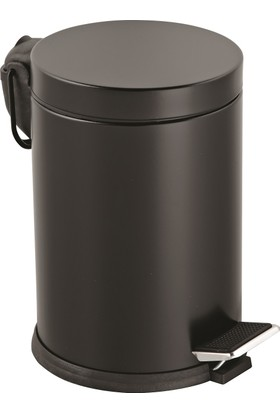 12 Lt.Renkli Pedallı Çöp Kovası Siyah