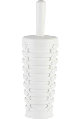 Plastik Beyaz Klozet Fırçalık