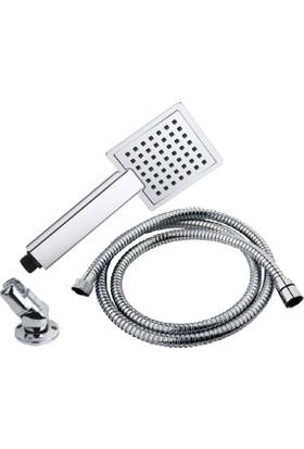 Çelik Banyo Platin Mafsallı Duş Seti