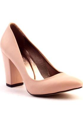 Paddy 2835 Kalın Topuk Stiletto Bayan Cilt Ayakkabı