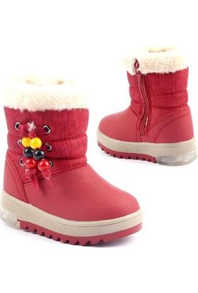 Twingo 6485 İçi Termal Kürklü Işıklı Fermuarlı Kız Çocuk Bot Ayakkabı