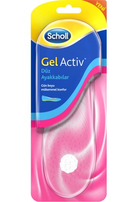 Scholl Gel Aktif Düz Ayakkabılar için Tabanlık